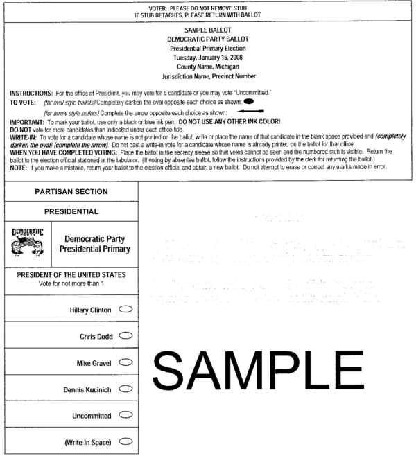 MyBayCity.com See Sample Ballots for Next Tuesday's Presidential ...