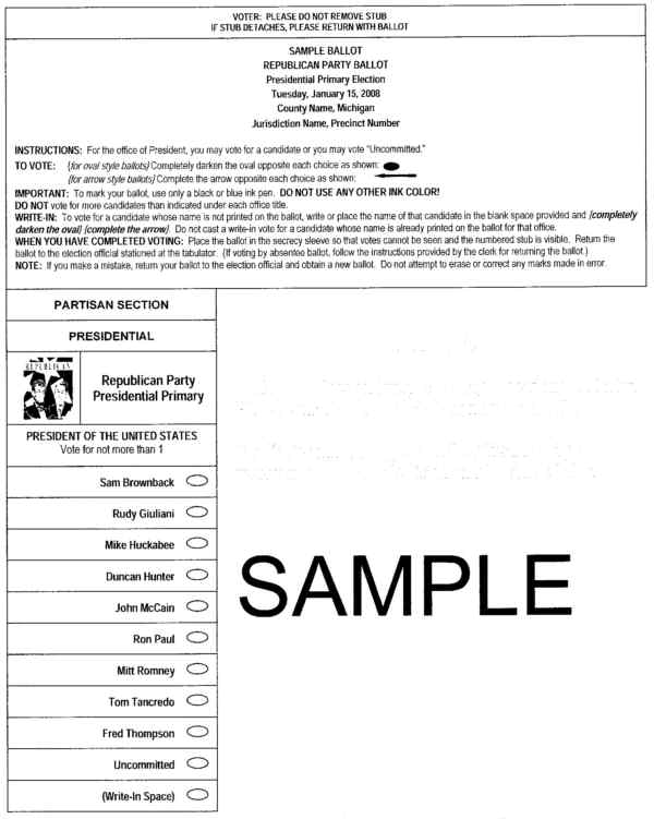 MyBayCity.com See Sample Ballots for Next Tuesday's Presidential ...